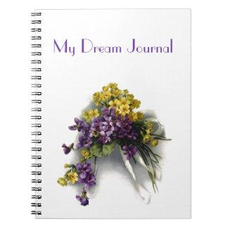 Mi diario ideal - ramo de la violeta del vintage cuaderno