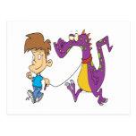 mi dibujo animado divertido del dragón del mascota postal