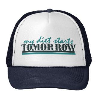 Mi dieta comienza mañana gorras