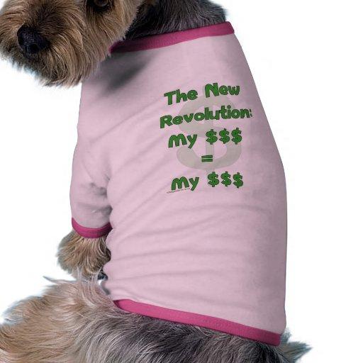Mi dinero es el mío camiseta con mangas para perro
