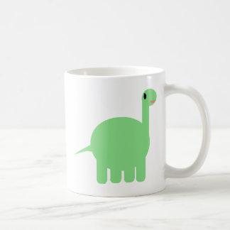 mi dinosaurio del dibujo animado taza básica blanca