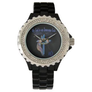 Mi dios es artículos impresionantes de dios relojes de pulsera