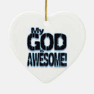 ¡Mi DIOS es IMPRESIONANTE! Adorno Navideño De Cerámica En Forma De Corazón