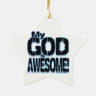 ¡Mi DIOS es IMPRESIONANTE! Adorno Navideño De Cerámica En Forma De Estrella