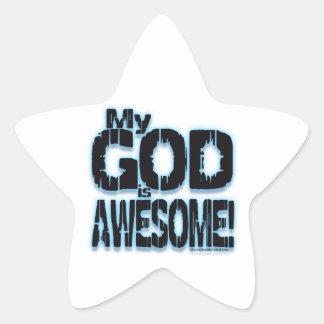 ¡Mi DIOS es IMPRESIONANTE! Calcomania Forma De Estrella Personalizada