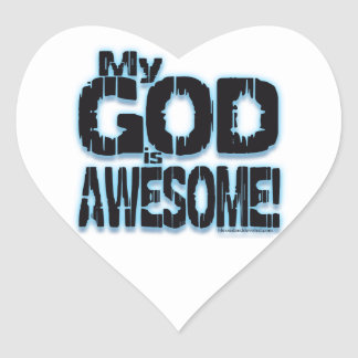 ¡Mi DIOS es IMPRESIONANTE! Pegatinas Corazon Personalizadas