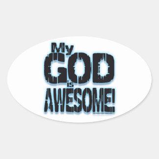 ¡Mi DIOS es IMPRESIONANTE! Colcomanias Óval Personalizadas