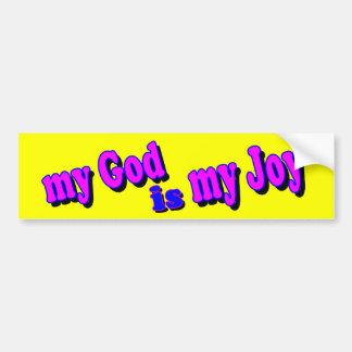 Mi dios es mi alegría etiqueta de parachoque