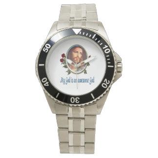 Mi dios es regalos impresionantes de dios relojes de pulsera