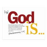Mi dios es tarjeta postal
