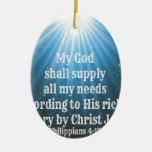 mi dios suministrará todas mis necesidades ornamento para reyes magos