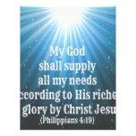 mi dios suministrará todas mis necesidades membrete personalizado
