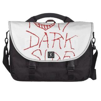 Mi diseño tipográfico del lado oscuro bolsas para portátil