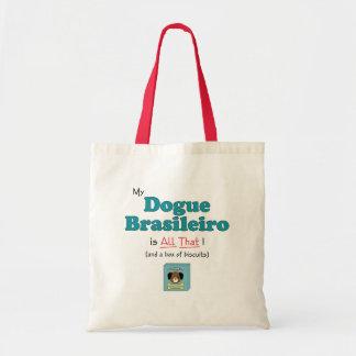 ¡Mi Dogue Brasileiro es todo el eso! Bolsa Tela Barata