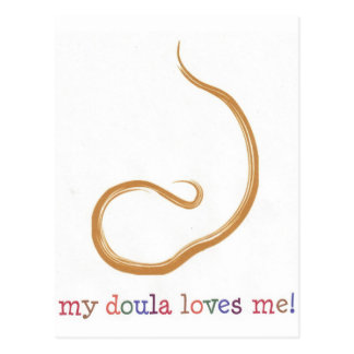 ¡Mi Doula me ama! Tarjeta Postal