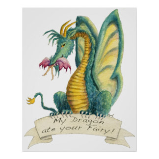 Mi dragón comió su 2012 de hadas - poster póster