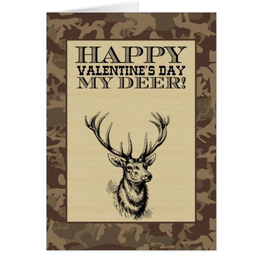 Mi el día de San Valentín de los ciervos el   Tarjeta Pequeña