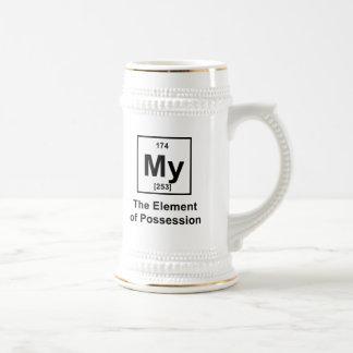 Mi el elemento de la posesión taza de café