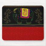 Mi elefante indio - rojo indio tapetes de raton