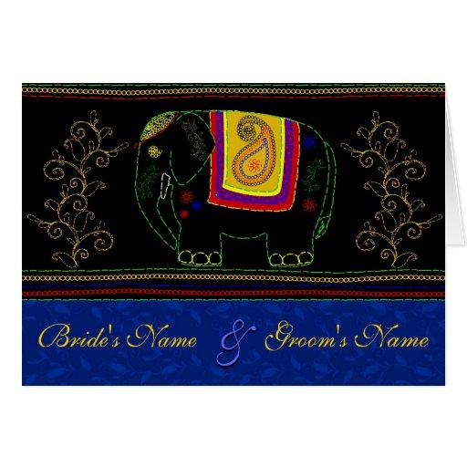 Mi elefante indio - zafiro tarjeta de felicitación