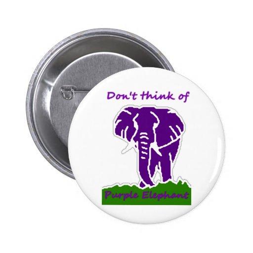 Mi elefante púrpura pin redondo 5 cm
