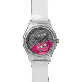 Mi elefante rosado del mascota relojes de mano