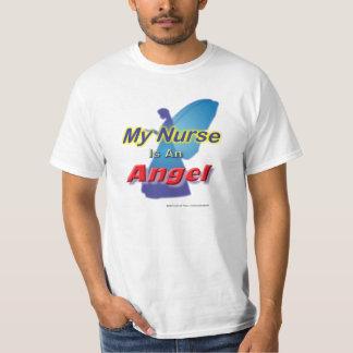 Mi enfermera es una camiseta del ángulo