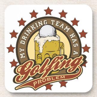 Mi equipo de consumición tiene un problema Golfing Posavasos De Bebida