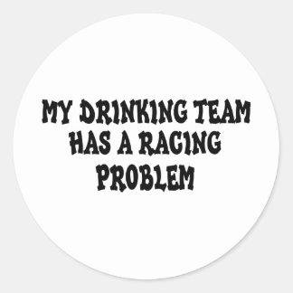 Mi equipo de consumición tiene un problema que pegatina redonda
