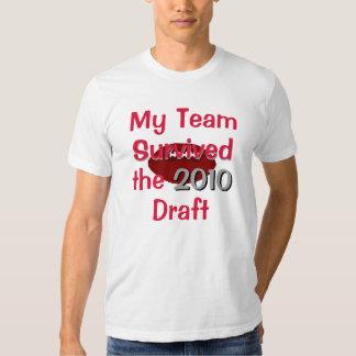 Mi equipo sobrevivió la camiseta del proyecto camisas