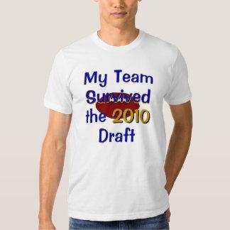 Mi equipo sobrevivió la camiseta del proyecto playera