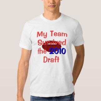 Mi equipo sobrevivió la camiseta del proyecto playeras