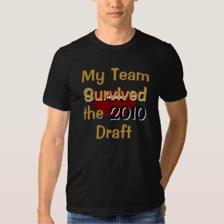 Mi equipo sobrevivió la camiseta del proyecto poleras