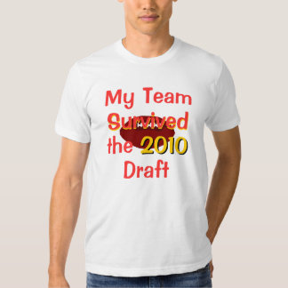 Mi equipo sobrevivió la camiseta del proyecto remera