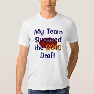 Mi equipo sobrevivió la camiseta del proyecto remeras