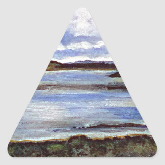 Mi Escocia amar Pegatina Triangular
