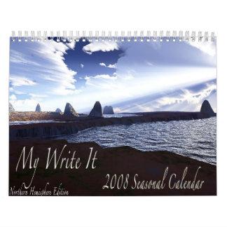 Mi escríbale 2008 la versión estacional del calend calendario de pared