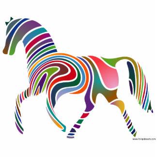 Mi escultura del caballo del arco iris esculturas fotograficas
