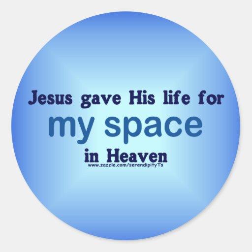 Mi espacio en cielo etiqueta