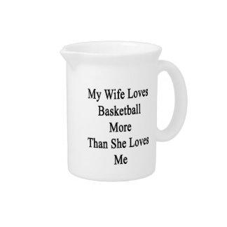 Mi esposa ama baloncesto más que ella me ama jarra