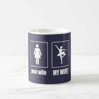 Mi esposa - bailarín de ballet taza de café