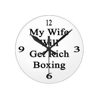 Mi esposa conseguirá el boxeo rico reloj de pared
