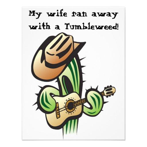 Mi esposa corrió lejos con una invitación del tumb
