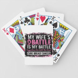 Mi esposa del cáncer de pecho demasiado 2 de la ba baraja cartas de poker