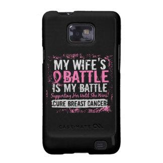 Mi esposa del cáncer de pecho demasiado 2 de la ba samsung galaxy SII fundas