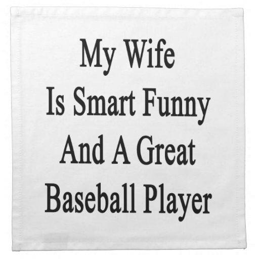 Mi esposa es divertida elegante y gran jugador de  servilleta