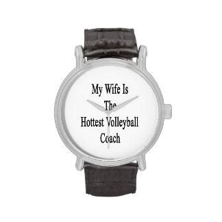 Mi esposa es el coche más caliente del voleibol relojes de mano