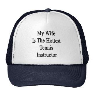 Mi esposa es el instructor más caliente del tenis gorro