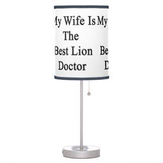 Mi esposa es el mejor doctor del león
