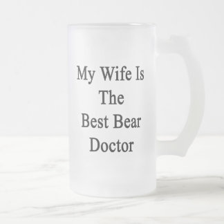 Mi esposa es el mejor doctor del oso tazas de café